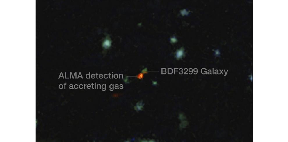 Observan por vez primera el interior de una galaxia temprana