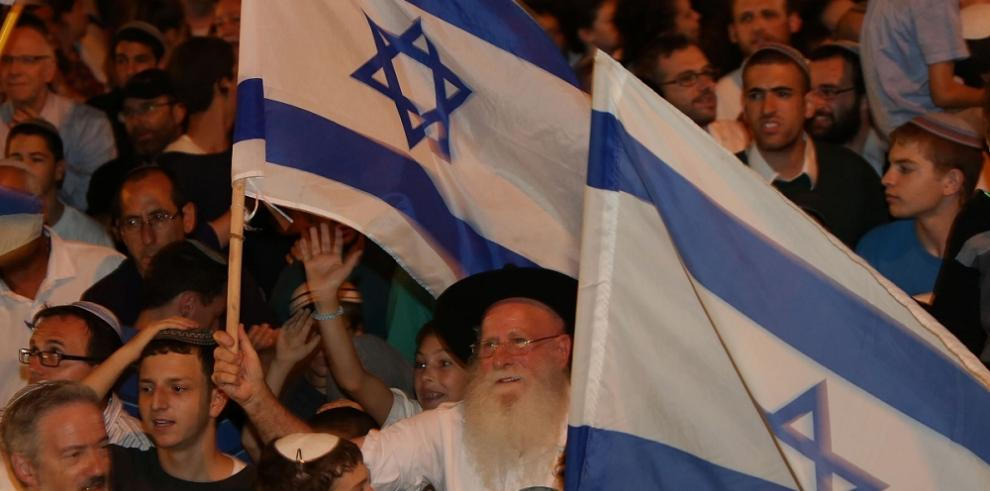 Israelíes extremistas de derecha protestan ante residencia de Netanyahu
