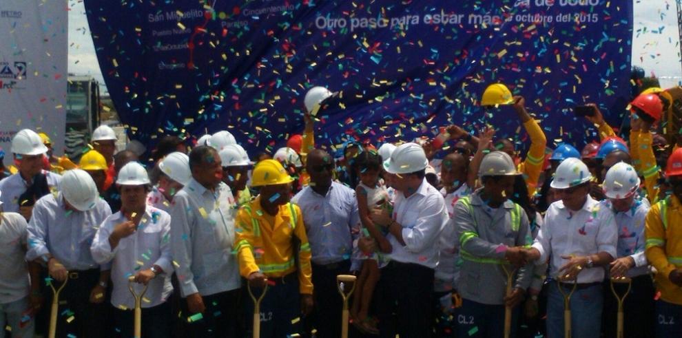 Inauguran obras de construcción de la Línea 2 del Metro