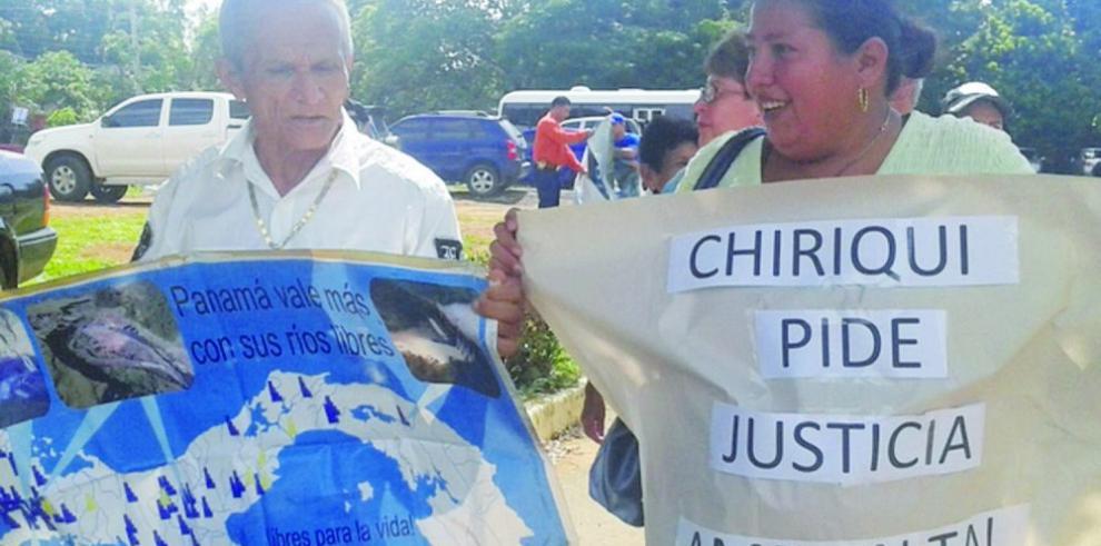 Coordinadora de Bugaba rechaza hidroeléctricas
