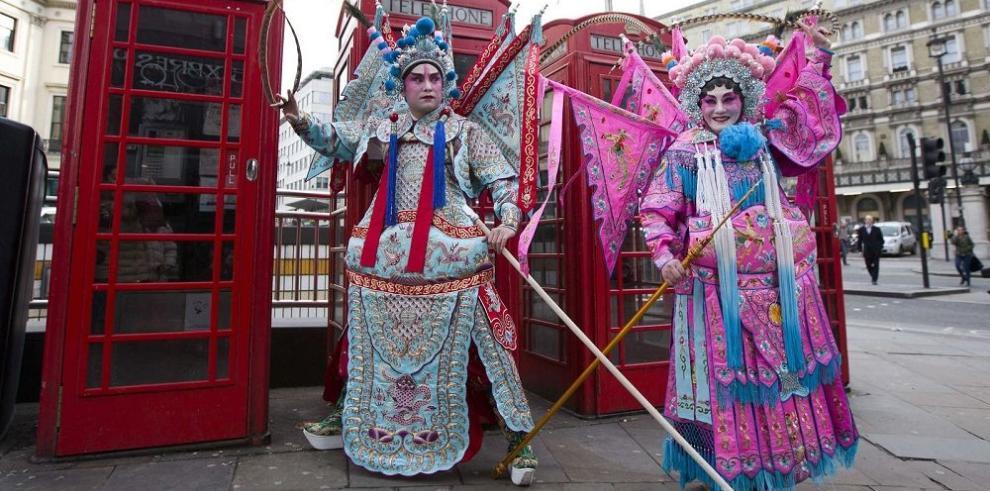Fiesta del año nuevo en Londres