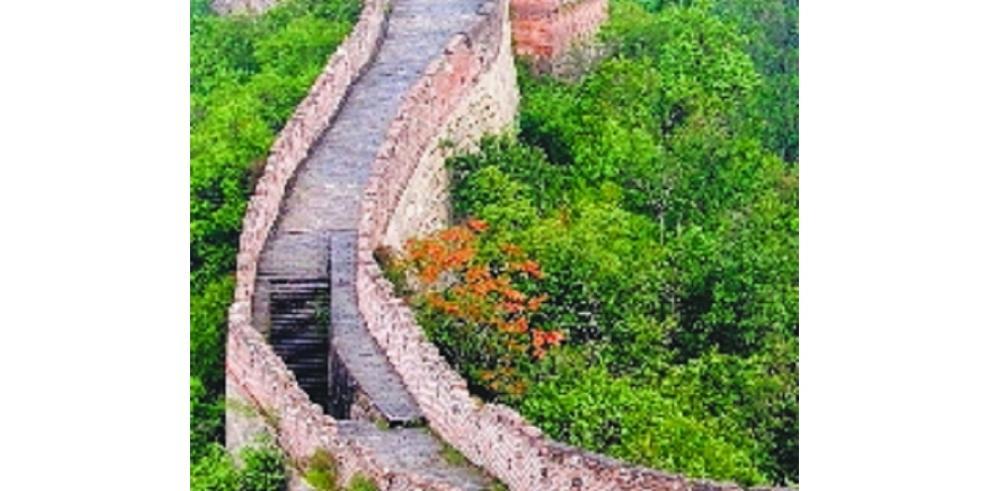 Detenidas dos personas por dañar Gran Muralla