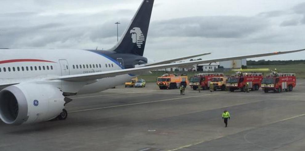 Avión de Aeroméxico aterriza de emergencia en Irlanda