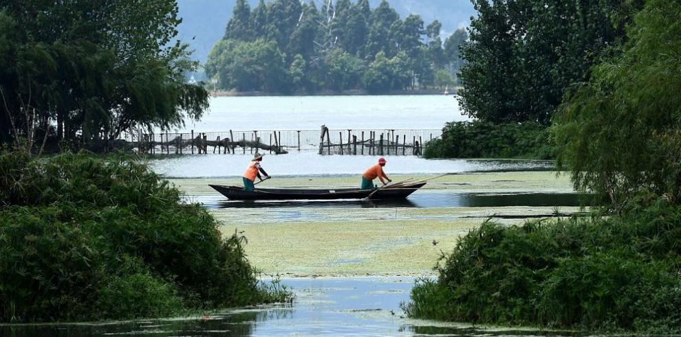 Limpieza de lago atrae a visitantes