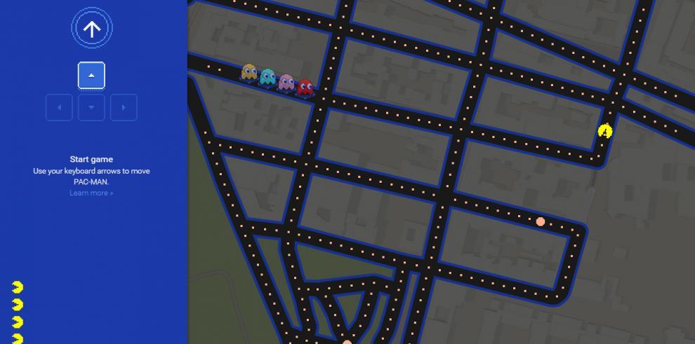 Google Maps convierte ciudades en el famoso videojuego Pac-Man