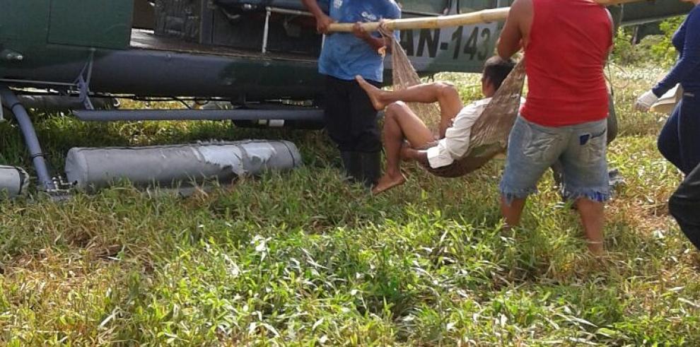 SENAN evacúados personas desde la Comarca Ngäbe- Buglé