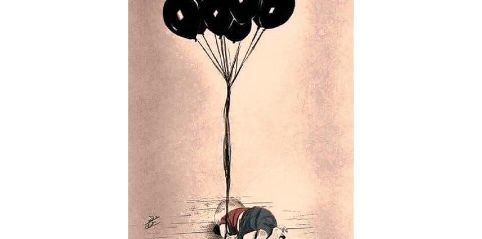 Artistas rinden homenaje alniño sirio