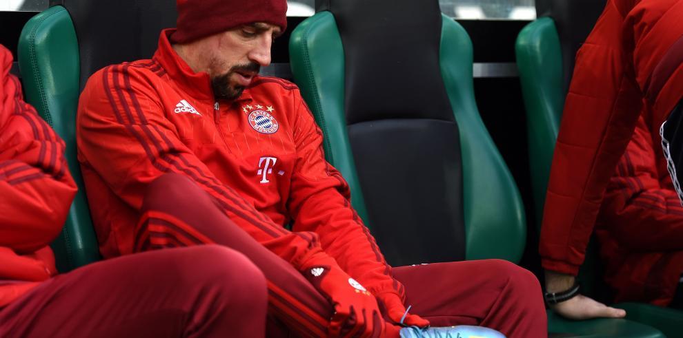 Nueva lesión de Ribery, que estará de baja lo que queda de año