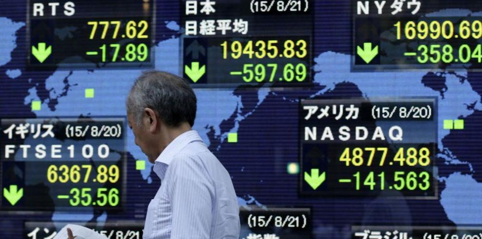 Inquietud por la economía china tiñe de rojo bolsas asiáticas