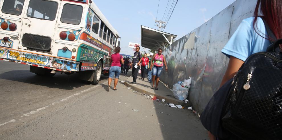 Paro de transporte genera caos en Panamá Este