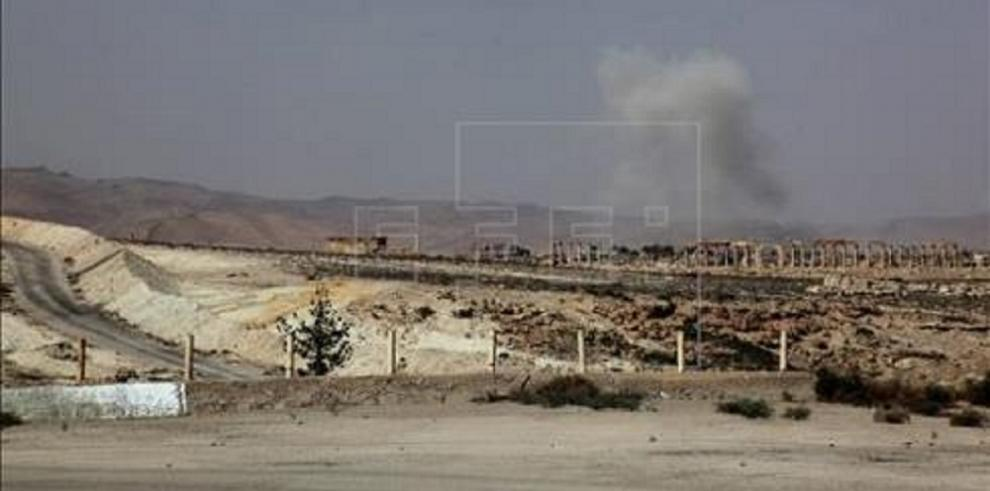 La aviación siria tiene como blanco zonas de Palmira