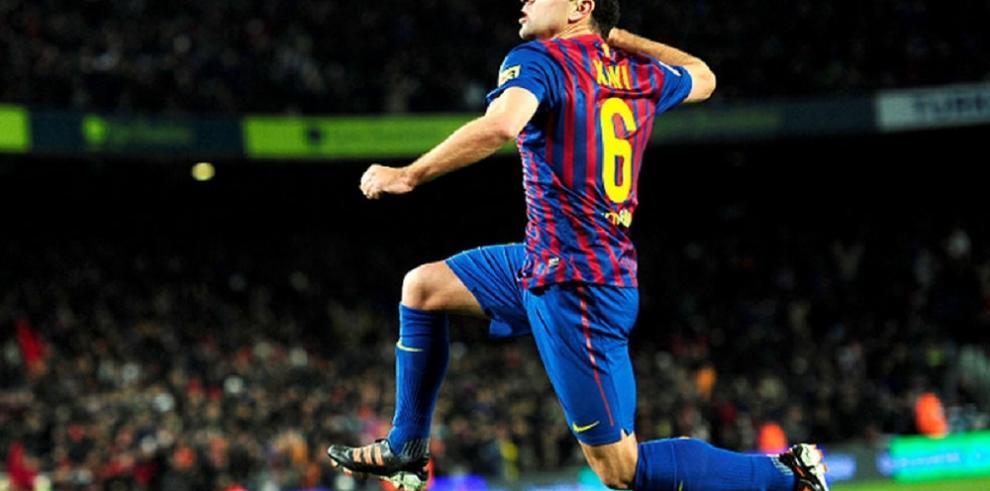 Barcelona usará camiseta especial en honor a Xavi