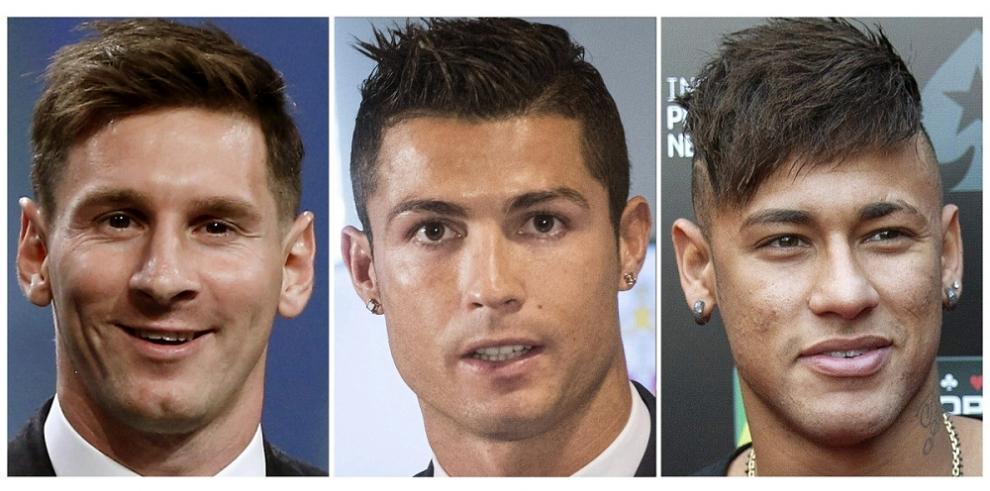 Lionel Messi, Cristiano Ronaldo y Neymar finalistas al Balón de Oro