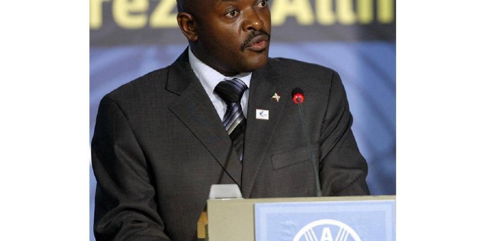 Presidente de Burundi avisa de que
