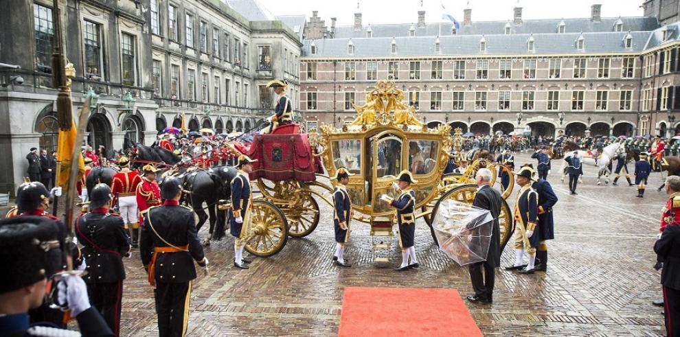 La carroza de los reyes de Holanda pasa al taller para ser restaurada