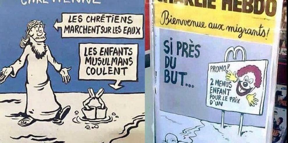 Charlie Hebdo siembra nueva polémica con sus bromas sobre el niño Aylan