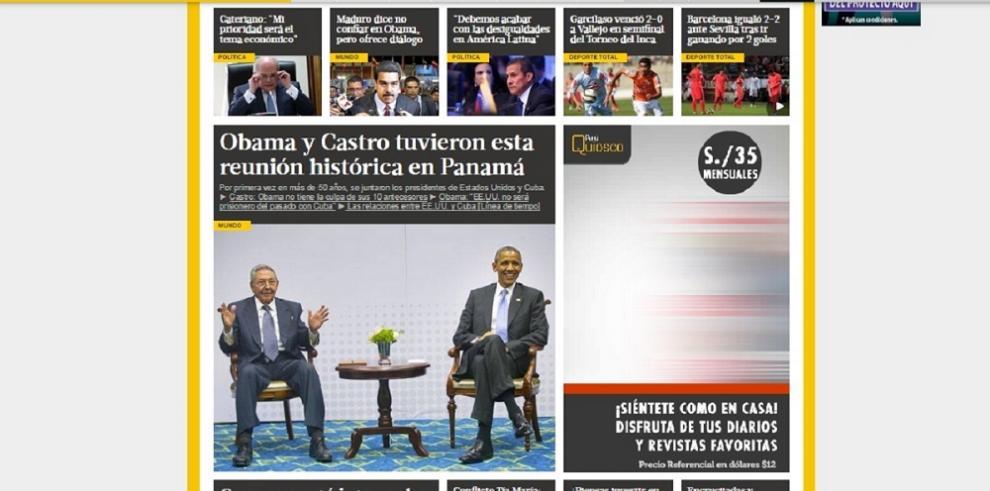 Así vivió el mundo el encuentro de Obama y Castro en Panamá