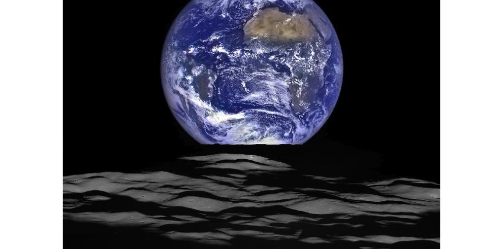 La NASA toma una espectacular foto de la tierra desde la luna