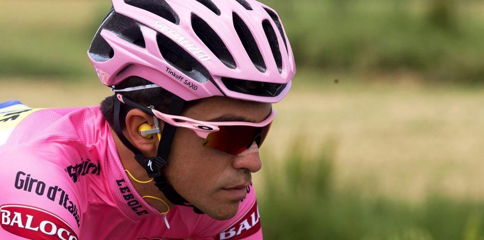 Contador se lesiona y peligra su continuidad en el Giro