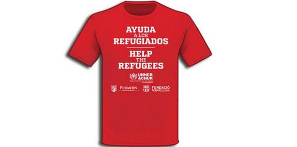 El Barcelona y Atlético vestirán camisetas a favor de los refugiados