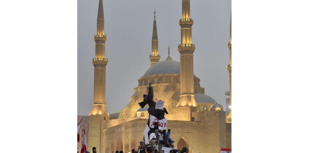 Políticos libaneses se reúnen tras nuevas manifestaciones
