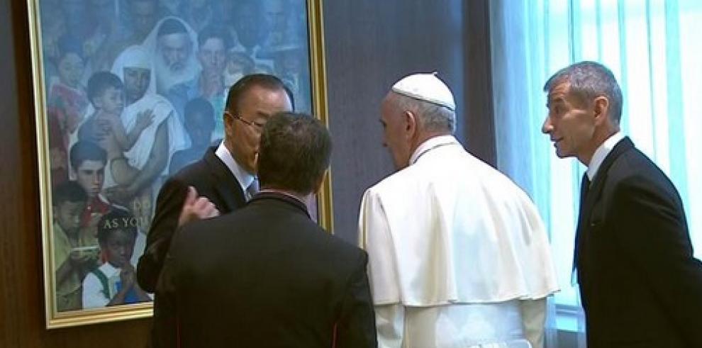 Francisco llega a la ONU para su histórico discurso ante la Asamblea