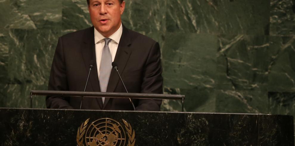 Varela expone en la ONU acciones de Panamá contra la pobreza