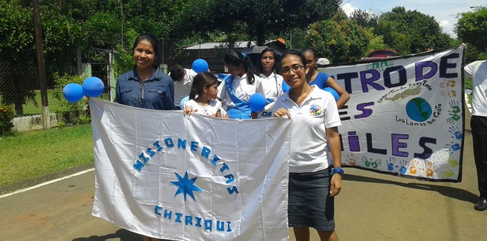 Moradores de Cochea en Chiriquí celebran mes de la Biblia