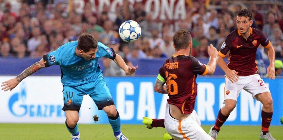 Roma puso en apuros al campeón Barcelona