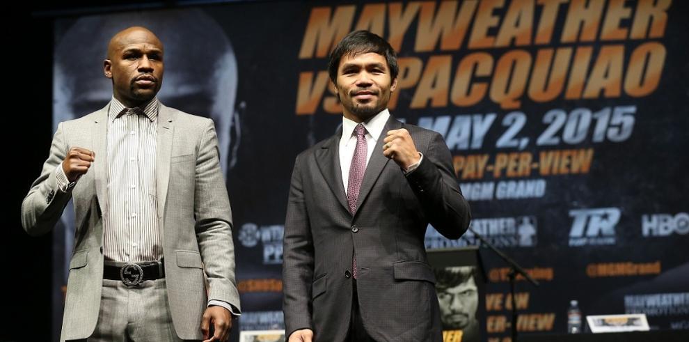 Mayweather y Pacquiao cara a cara antes del 2 de mayo