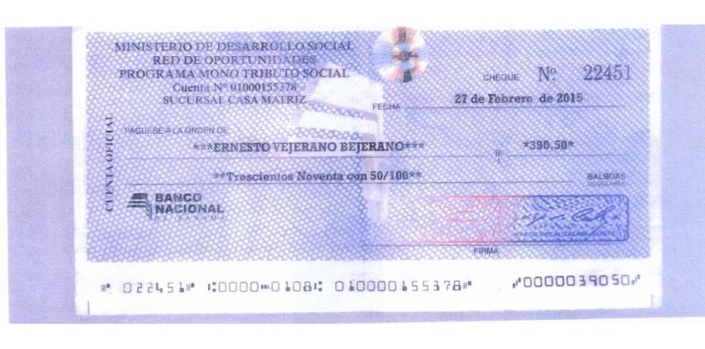 Falsifican cheques del Mides para estafar a comerciantes y bancos