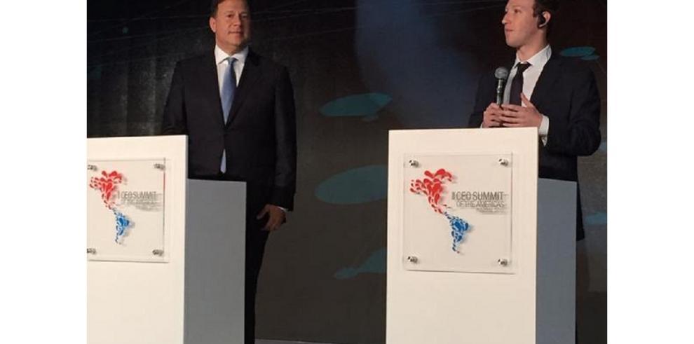 Zuckerberg y Varela se reúnen en el Foro Empresarial