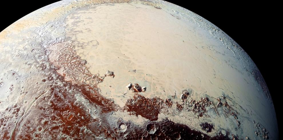Datos muestran que superficie de Plutón es diversa y de varios colores