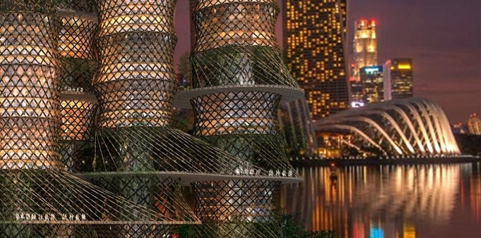 Rascacielos de bambú