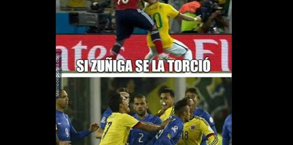 Memes tras la pelea de Neymar y Bacca