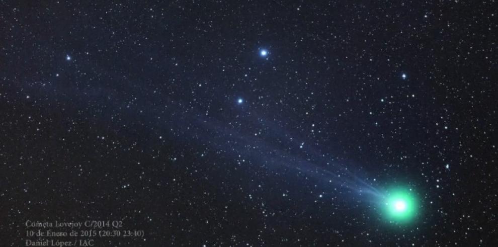 Cometa Lovejoy, visible sin prismático salvo su cola