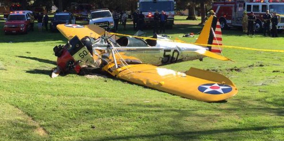 Harrison Ford sufre un accidente en una avioneta