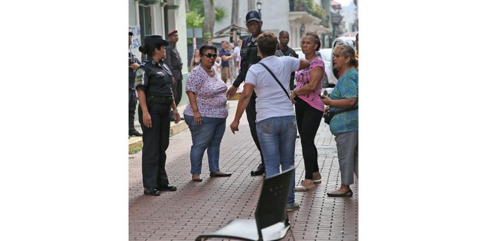 Protesta en el Casco