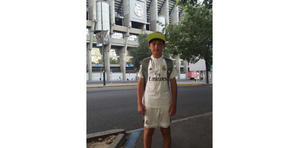 Panameño Xoán disfruta del Madrid