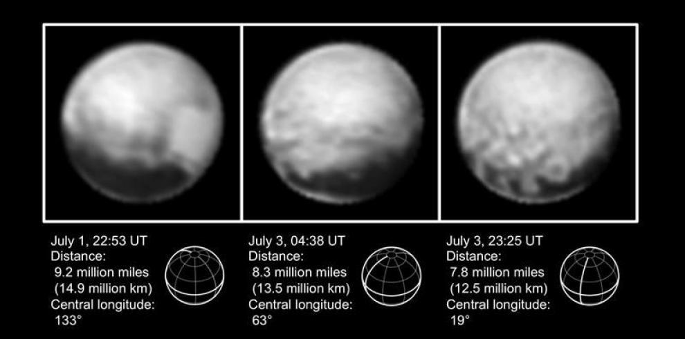 Imágenes de Plutón a una semana de la llegada de