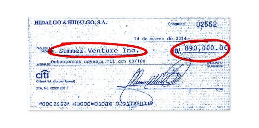 Ellis dice que no retiró del Banco Universal el cheque a su nombre