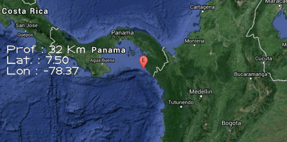 Se registra sismo de 4.5 Mw en Panamá