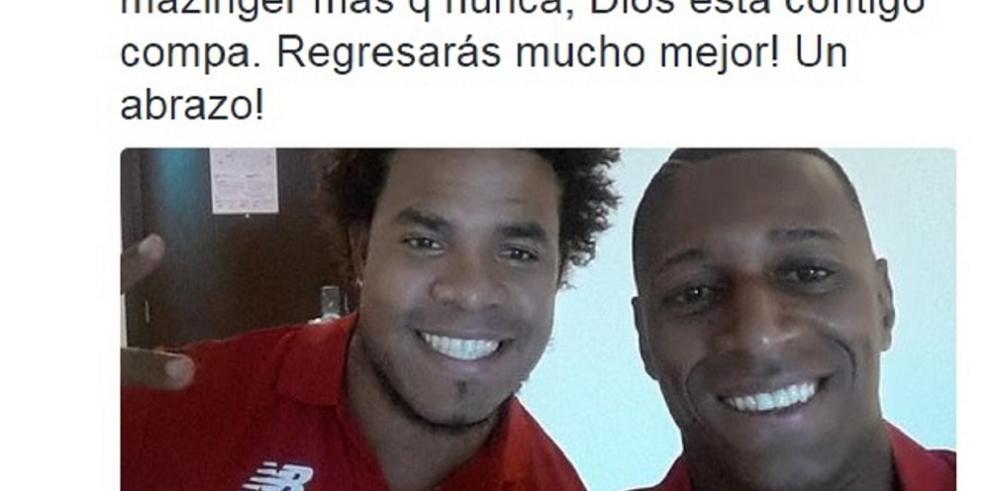 Futbolistas panameños demuestran su apoyo a Román en redes sociales