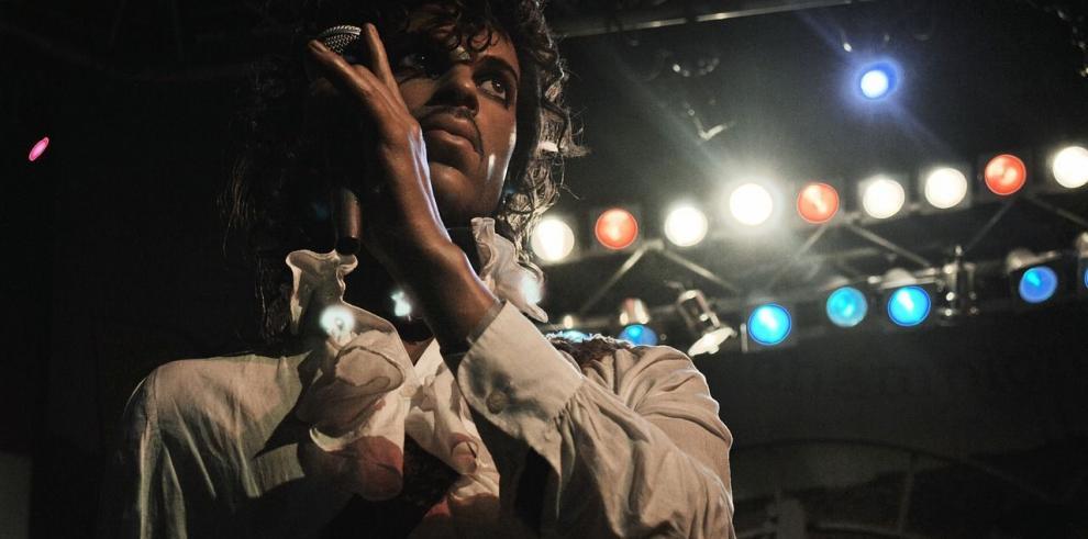 Prince y Stevie Wonder en una