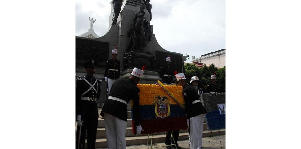 Honor a los héroes de Pichincha
