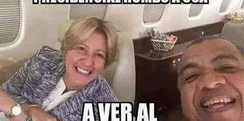 Se inspiran en el viaje de Varela y su esposa a EEUU para crear memes