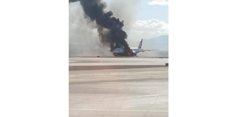 Avión con 159 pasajeros se incendió en el aeropuerto de Las Vegas