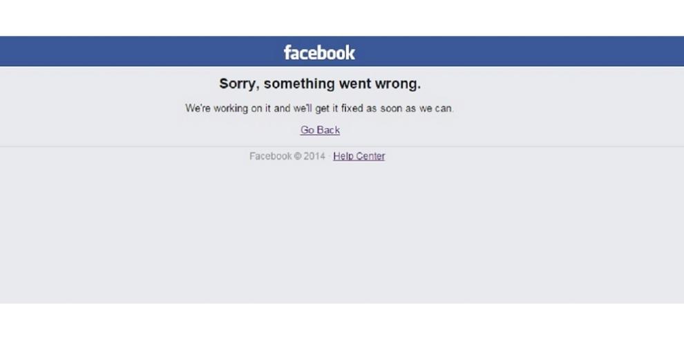 Usuarios reportan caída de la red social Facebook