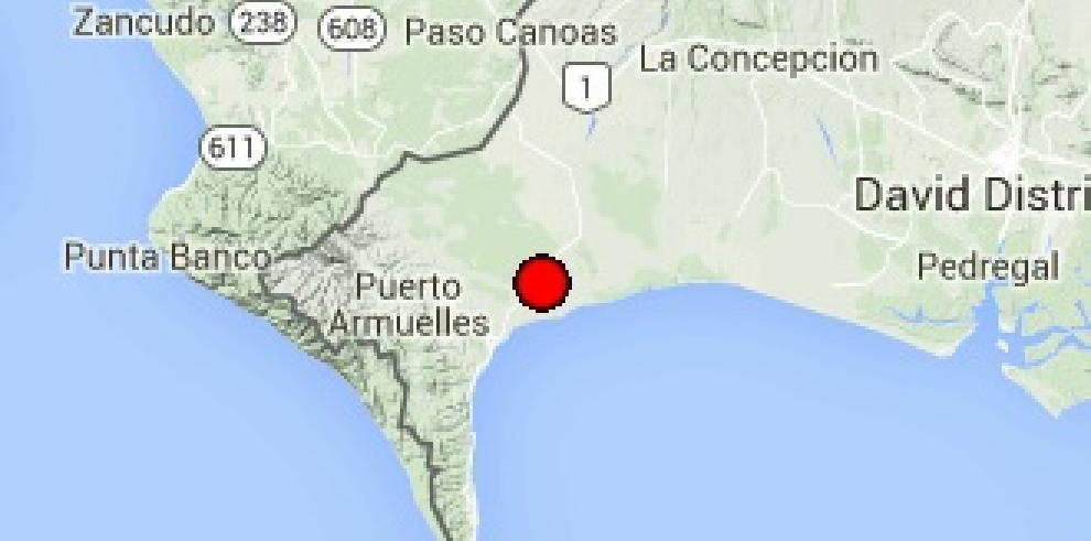 Sismo de magnitud 3,6 sacudió la provincia de Chiriquí