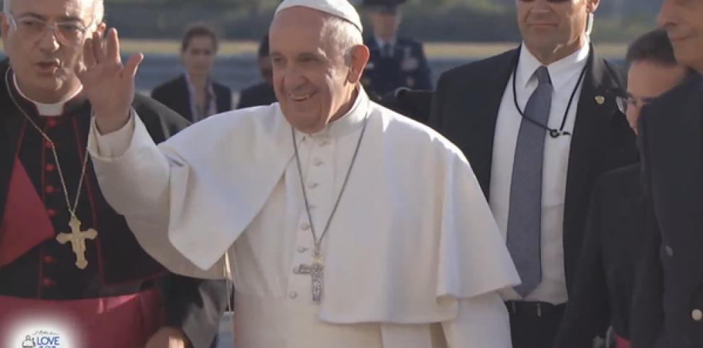El papa Francisco aterriza en Nueva York